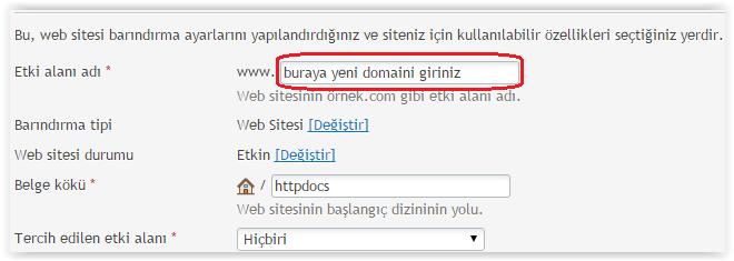 Plesk Panel Domain Değiştirme 2