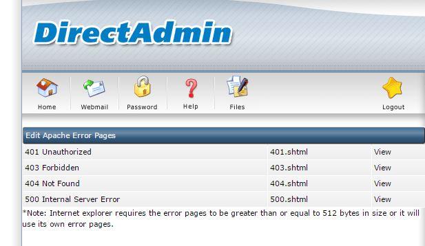 directadmin-custrom-error-pages
